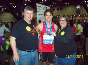 My parents and I after the finish