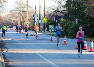 Chasing after Amy Shackelford at Mile 11