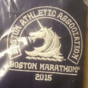 I received my official Boston Marathon jacket in the mail. This thing is staying in the plastic until I cross the finish.